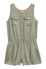 Sleeveless  playsuit - Khaki green - Kids | H&M 2