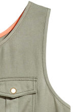 Sleeveless  playsuit - Khaki green - Kids | H&M 3