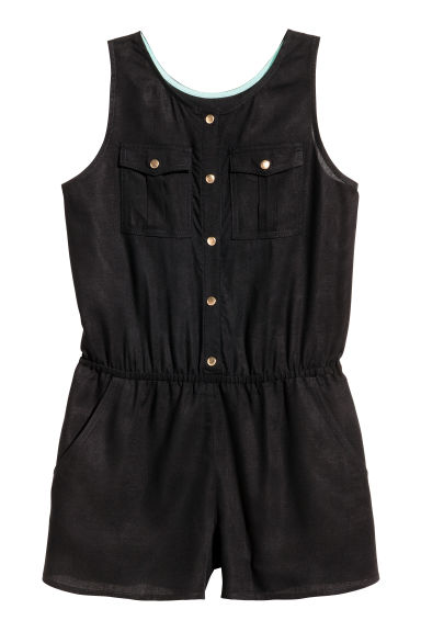 Sleeveless  playsuit - Black - Kids | H&M 1