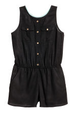 Sleeveless  playsuit - Black -  | H&M 1