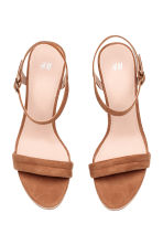 Wedge-heel sandals - Light brown - Ladies | H&M CN 2
