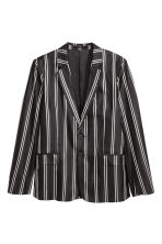 Striped silk jacket - Black/White - Men | H&M 1