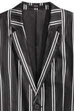 Striped silk jacket - Black/White - Men | H&M 2