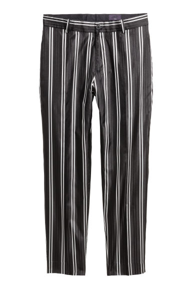 Striped silk suit trousers