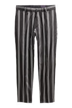 Striped silk suit trousers - Black/White - Men | H&M CA 1