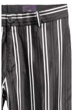 Striped silk suit trousers - Black/White - Men | H&M CA 3