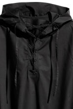 Hooded shirt with lacing - Black - Men | H&M 2