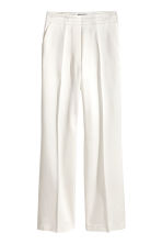 Satin suit trousers - White - Ladies | H&M CN 2