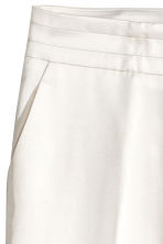 Satin suit trousers - White - Ladies | H&M CN 3