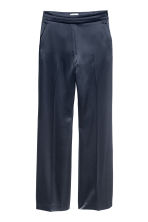 Satin suit trousers - Dark blue - Ladies | H&M CN 2
