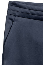 Satin suit trousers - Dark blue - Ladies | H&M CN 3