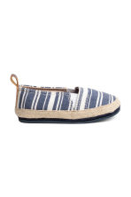 Espadrilles - Dark blue/Striped -  | H&M 2