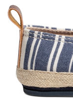 Espadrilles - Dark blue/Striped -  | H&M 3
