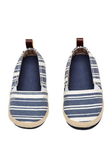Espadrilles - Dark blue/Striped -  | H&M