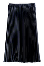 Pleated skirt - Dark blue -  | H&M CN 2