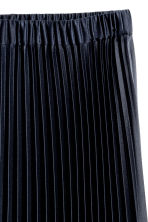 Pleated skirt - Dark blue -  | H&M CN 3