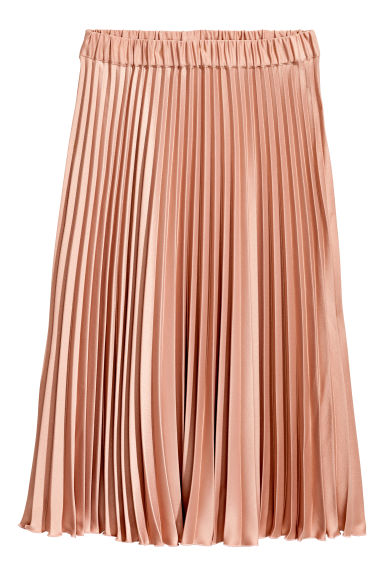 Pleated skirt - Powder pink - Ladies | H&M CN 1
