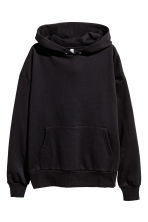 Oversized hooded top - Black - Ladies | H&M 2