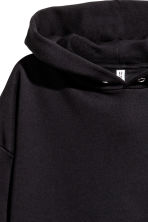 Oversized hooded top - Black - Ladies | H&M 3