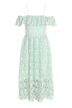Off-the-shoulder lace dress - Mint green - Ladies | H&M 2