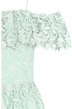 Off-the-shoulder lace dress - Mint green - Ladies | H&M 3