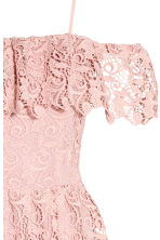 Off-the-shoulder lace dress - Light pink - Ladies | H&M CN 3