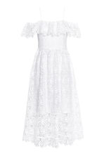 Off-the-shoulder lace dress - 白色 - Ladies | H&M CN 2