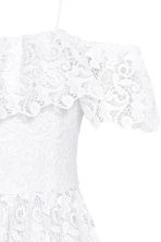 Off-the-shoulder lace dress - 白色 - Ladies | H&M CN 3