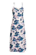 Patterned wrapover dress - Light pink/Palms - Ladies | H&M CN 2
