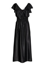 Long flounced dress - Black -  | H&M 2
