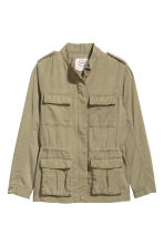 Lyocell-blend cargo jacket - Light khaki green - Kids | H&M 2