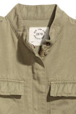 Lyocell-blend cargo jacket - Light khaki green - Kids | H&M CN 5
