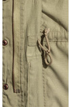 Lyocell-blend cargo jacket - Light khaki green - Kids | H&M CN 4