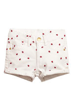 Short twill shorts - White/Ladybird - Kids | H&M 2