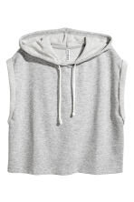 無袖連帽上衣 - Grey marl - Ladies | H&M 3