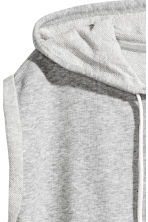 Sleeveless hooded top - Grey marl - Ladies | H&M CA 3