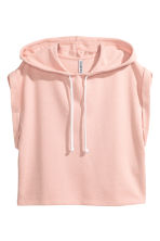 Sleeveless hooded top - Powder pink - Ladies | H&M 2