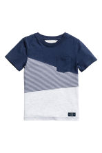 T-shirt - Dark blue/Light grey - Kids | H&M 2