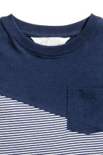 T-shirt - Dark blue/Light grey - Kids | H&M 3
