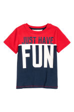 T-shirt - Red/Dark blue - Kids | H&M 2