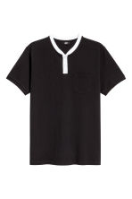 Cotton piqué T-shirt - Black - Men | H&M CN 2