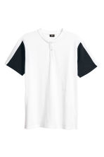 Cotton piqué T-shirt - White - Men | H&M CN 2