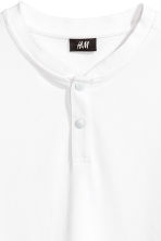 Cotton piqué T-shirt - White - Men | H&M CN 3