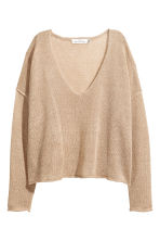 Linen-blend jumper - Beige - Ladies | H&M GB 2