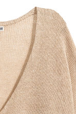 Linen-blend jumper - Beige - Ladies | H&M GB 3