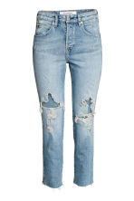 Slim High Cropped Jeans - Denim blue - Ladies | H&M CN 2