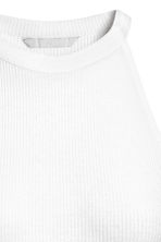 Ribbed dress - White -  | H&M CN 3