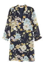 V-neck dress - Dark blue/Floral -  | H&M 2