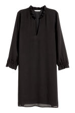 V-neck dress - Black -  | H&M 2