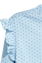 Cotton blouse - Light blue/Spotted - Ladies | H&M 3
